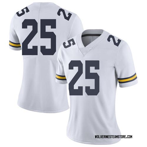 Women's Naji Ozeir Michigan Wolverines Limited White Brand Jordan Football College Jersey