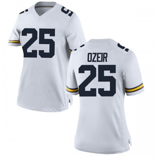 Women's Naji Ozeir Michigan Wolverines Replica White Brand Jordan Football College Jersey