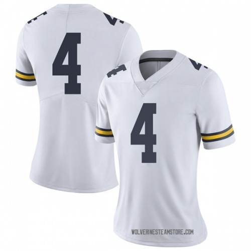 Women's Nico Collins Michigan Wolverines Limited White Brand Jordan Football College Jersey
