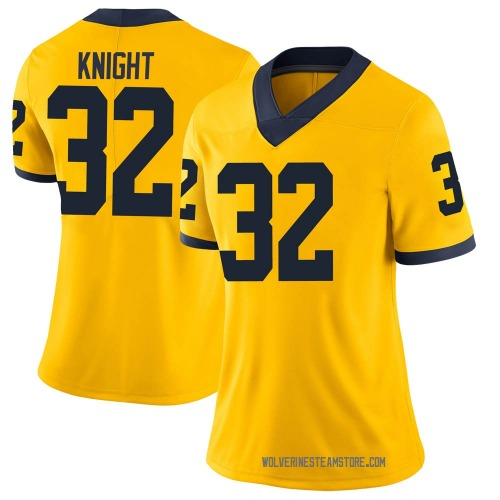 Women's Nolan Knight Michigan Wolverines Limited Brand Jordan Maize Football College Jersey