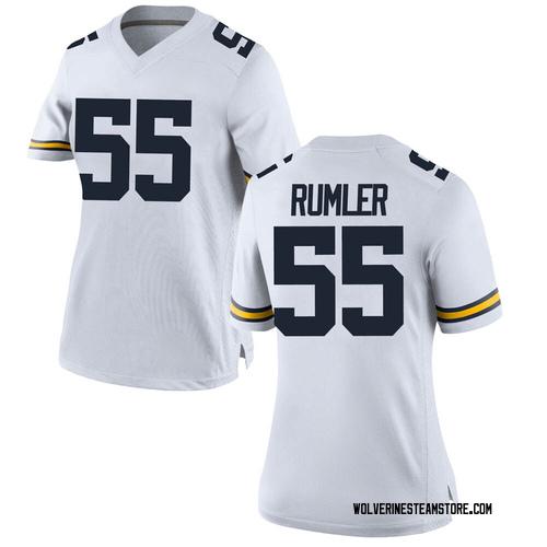 Women's Nolan Rumler Michigan Wolverines Replica White Brand Jordan Football College Jersey