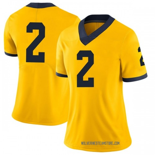Women's Oliver Martin Michigan Wolverines Limited Olive Brand Jordan Maize Football College Jersey