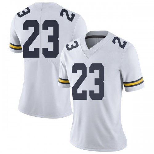 Women's Omaury Samuels Michigan Wolverines Limited White Brand Jordan Football College Jersey