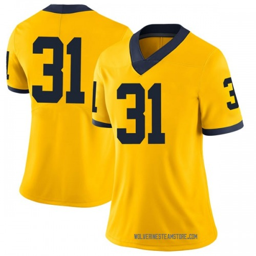 Women's Phillip Paea Michigan Wolverines Limited Brand Jordan Maize Football College Jersey