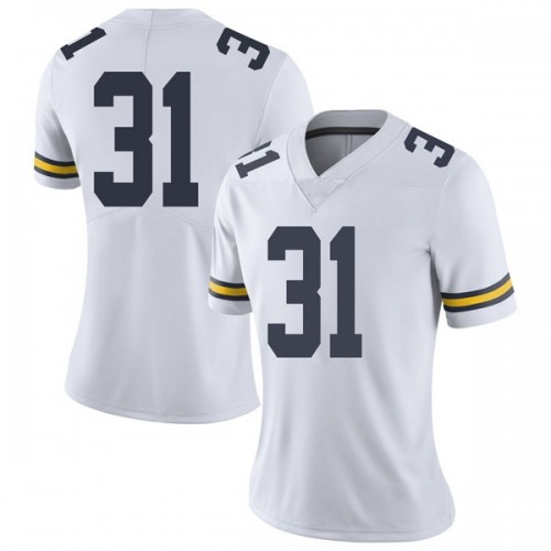 Women's Phillip Paea Michigan Wolverines Limited White Brand Jordan Football College Jersey