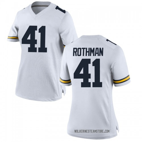 Women's Quinn Rothman Michigan Wolverines Replica White Brand Jordan Football College Jersey