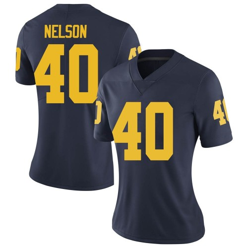 Women's Ryan Nelson Michigan Wolverines Limited Navy Brand Jordan Football College Jersey