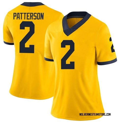 Women's Shea Patterson Michigan Wolverines Limited Brand Jordan Maize Football College Jersey