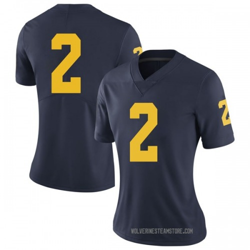 Women's Shea Patterson Michigan Wolverines Limited Navy Brand Jordan Football College Jersey