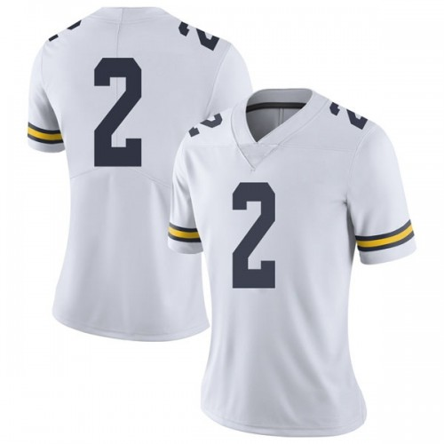 Women's Shea Patterson Michigan Wolverines Limited White Brand Jordan Football College Jersey