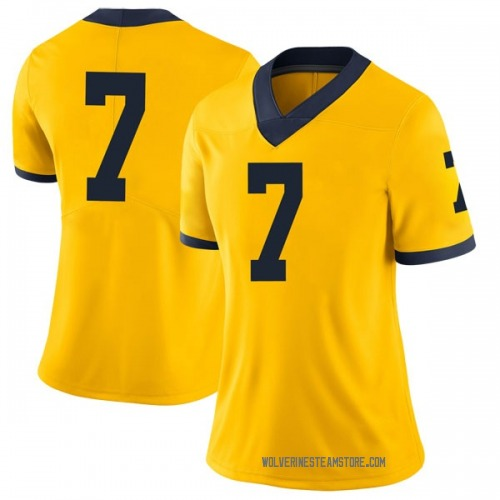 Women's Tarik Black Michigan Wolverines Limited Black Brand Jordan Maize Football College Jersey