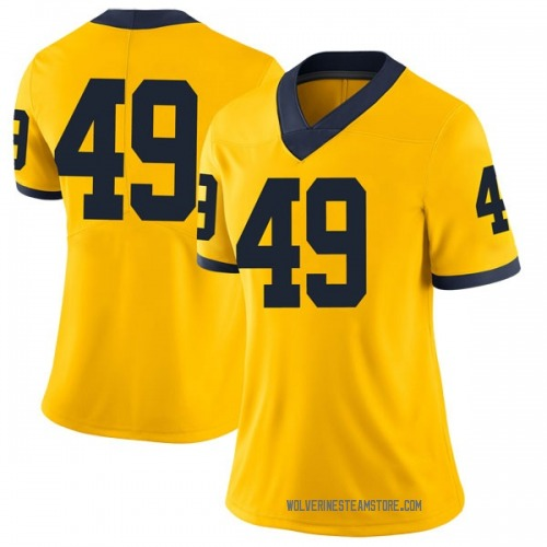 Women's Tyler Plocki Michigan Wolverines Limited Brand Jordan Maize Football College Jersey