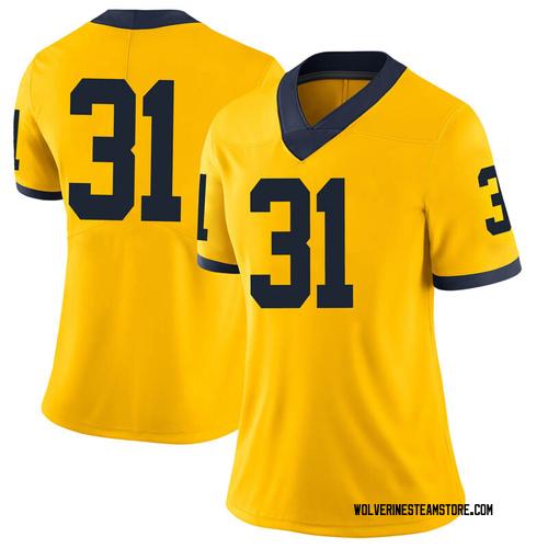 Women's Vincent Gray Michigan Wolverines Limited Gray Brand Jordan Maize Football College Jersey