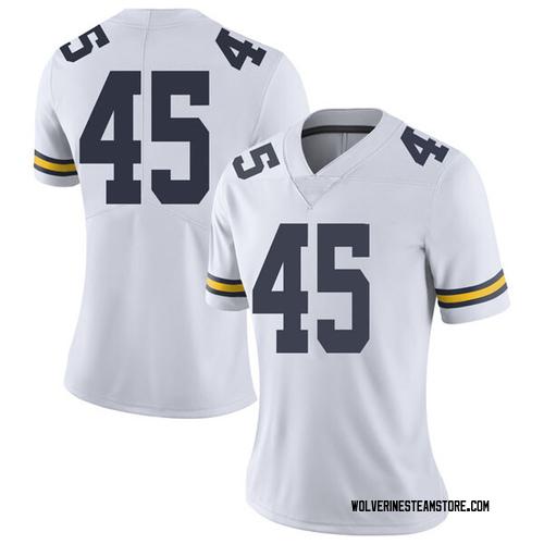 Women's William Holton Michigan Wolverines Limited White Brand Jordan Football College Jersey