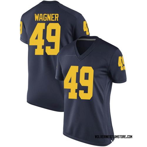 Women's William Wagner Michigan Wolverines Replica Navy Brand Jordan Football College Jersey