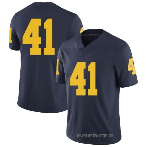 Youth Abe Jaafar Michigan Wolverines Limited Navy Brand Jordan Football College Jersey