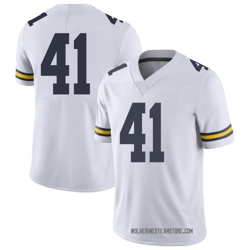 Youth Abe Jaafar Michigan Wolverines Limited White Brand Jordan Football College Jersey
