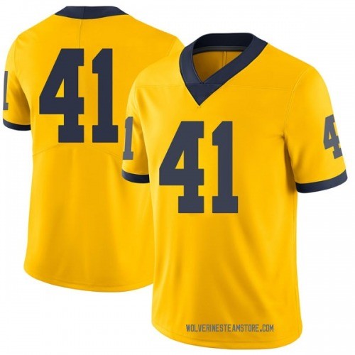 Youth Adam Fakih Michigan Wolverines Limited Brand Jordan Maize Football College Jersey