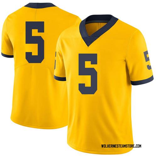 Youth Adrien Nunez Michigan Wolverines Limited Brand Jordan Maize Football College Jersey