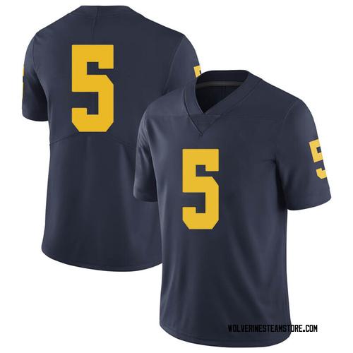 Youth Adrien Nunez Michigan Wolverines Limited Navy Brand Jordan Football College Jersey