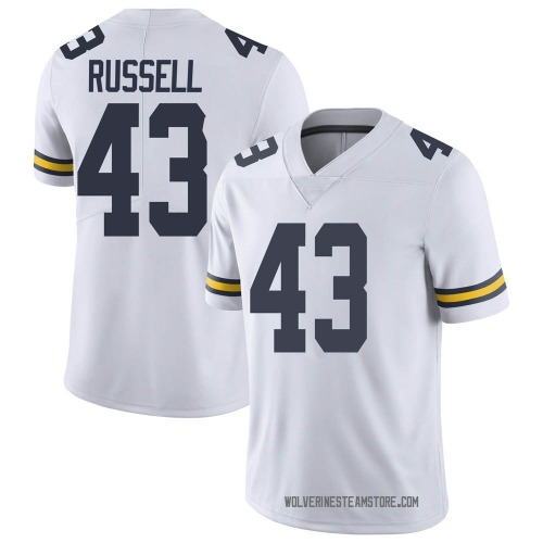 Youth Andrew Russell Michigan Wolverines Limited White Brand Jordan Football College Jersey