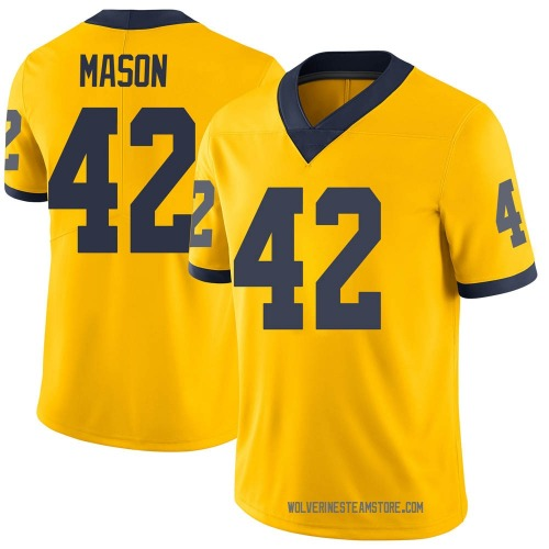Youth Ben Mason Michigan Wolverines Limited Brand Jordan Maize Football College Jersey