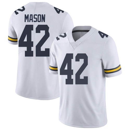 Youth Ben Mason Michigan Wolverines Limited White Brand Jordan Football College Jersey