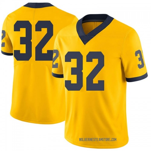 Youth Berkley Edwards Michigan Wolverines Limited Brand Jordan Maize Football College Jersey