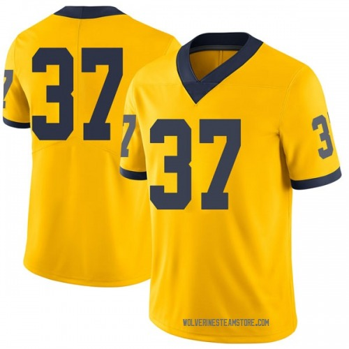Youth Bradford Jones Michigan Wolverines Limited Brand Jordan Maize Football College Jersey