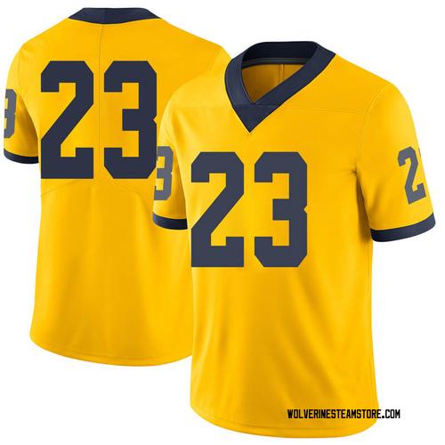 Youth Brandon Johns Jr. Michigan Wolverines Limited Brand Jordan Maize Football College Jersey