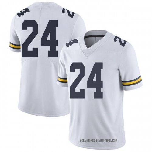 Youth C.J. Baird Michigan Wolverines Limited White Brand Jordan Football College Jersey