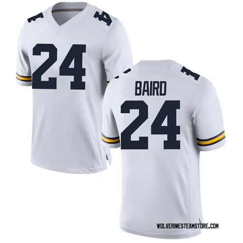 Youth C.J. Baird Michigan Wolverines Replica White Brand Jordan Football College Jersey