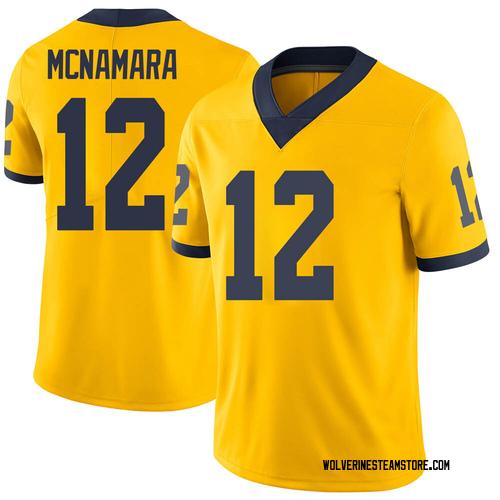 Youth Cade McNamara Michigan Wolverines Limited Brand Jordan Maize Football College Jersey