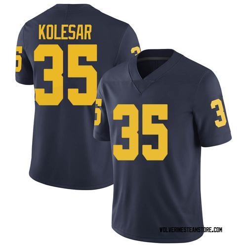 Youth Caden Kolesar Michigan Wolverines Limited Navy Brand Jordan Football College Jersey