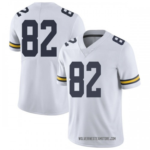 Youth Carter Selzer Michigan Wolverines Limited White Brand Jordan Football College Jersey