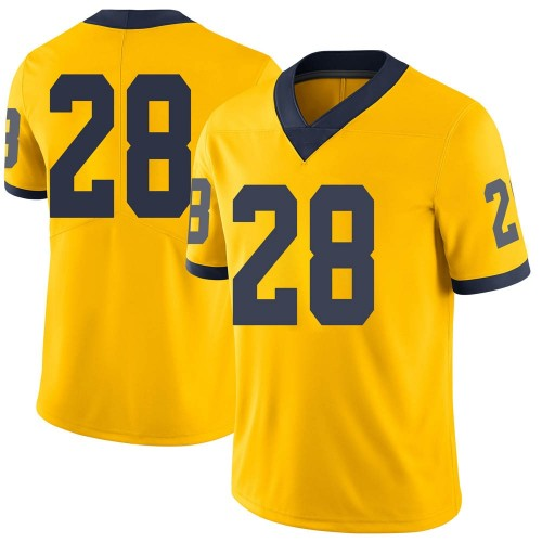 Youth Christian Turner Michigan Wolverines Limited Brand Jordan Maize Football College Jersey