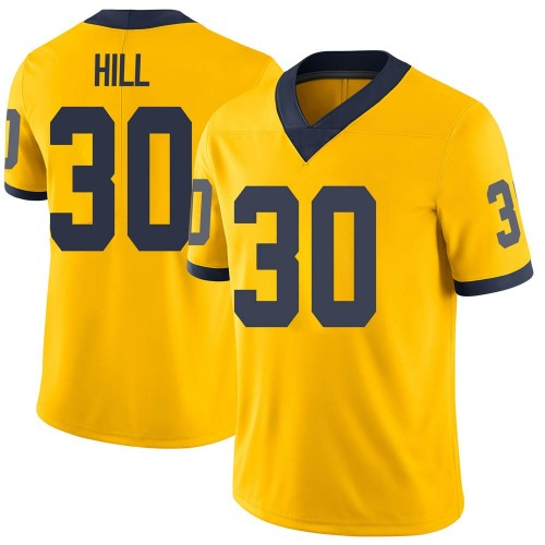 Youth Daxton Hill Michigan Wolverines Limited Brand Jordan Maize Football College Jersey