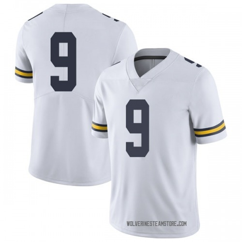 Youth Donovan Peoples-Jones Michigan Wolverines Limited White Brand Jordan Football College Jersey