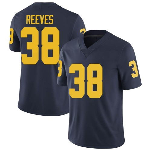Youth Geoffrey Reeves Michigan Wolverines Limited Navy Brand Jordan Football College Jersey