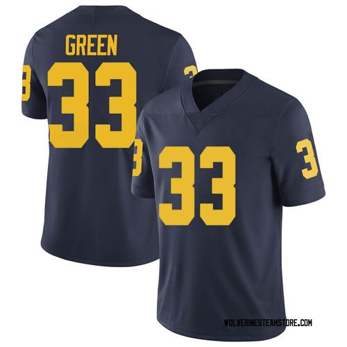 Youth German Green Michigan Wolverines Limited Green Brand Jordan Navy Football College Jersey