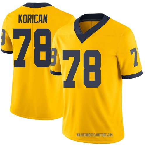 Youth Griffin Korican Michigan Wolverines Limited Brand Jordan Maize Football College Jersey
