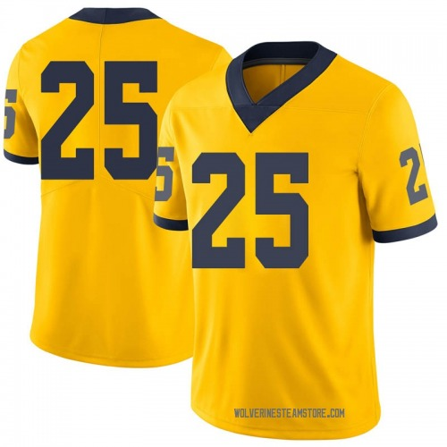Youth Hunter Reynolds Michigan Wolverines Limited Brand Jordan Maize Football College Jersey
