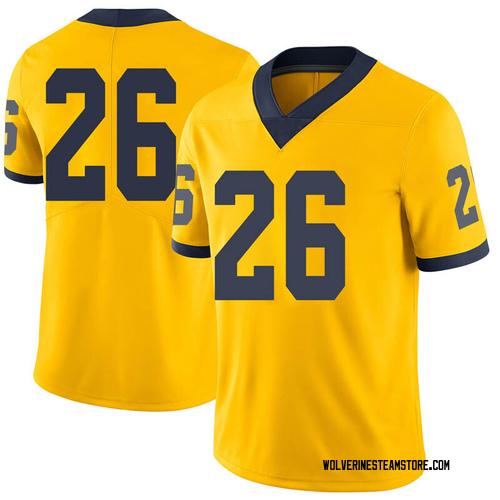 Youth J'Marick Woods Michigan Wolverines Limited Brand Jordan Maize Football College Jersey