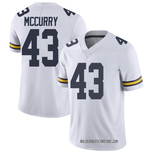 Youth Jake McCurry Michigan Wolverines Limited White Brand Jordan Football College Jersey
