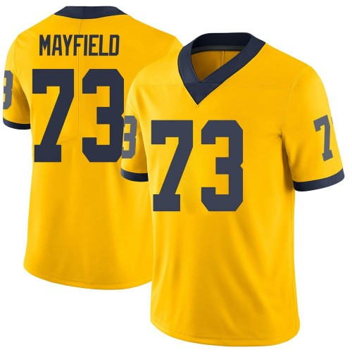 Youth Jalen Mayfield Michigan Wolverines Limited Brand Jordan Maize Football College Jersey