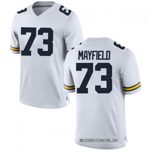 Youth Jalen Mayfield Michigan Wolverines Replica White Brand Jordan Football College Jersey