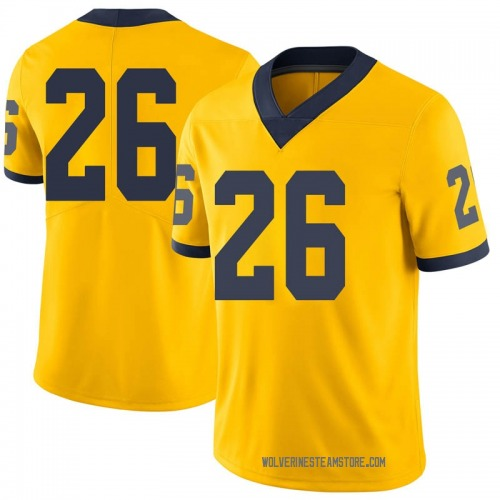Youth Jmarick Woods Michigan Wolverines Limited Brand Jordan Maize Football College Jersey