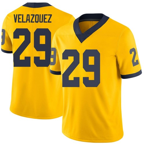 Youth Joey Velazquez Michigan Wolverines Limited Brand Jordan Maize Football College Jersey