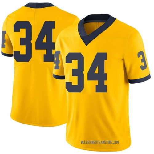 Youth Jordan Anthony Michigan Wolverines Limited Brand Jordan Maize Football College Jersey
