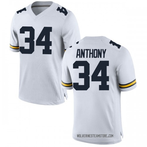 Youth Jordan Anthony Michigan Wolverines Replica White Brand Jordan Football College Jersey